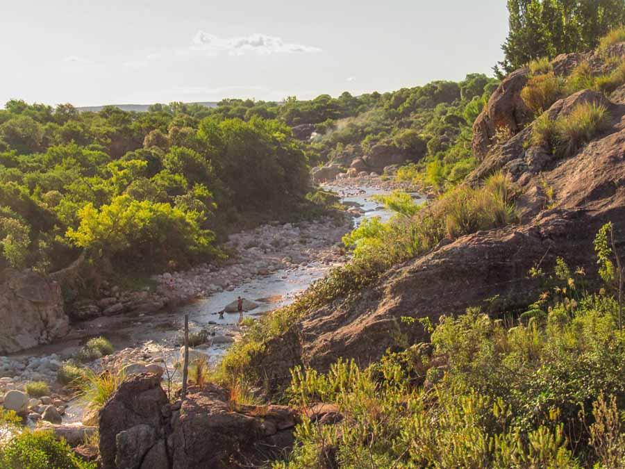 Vista del río Chico de Nono
